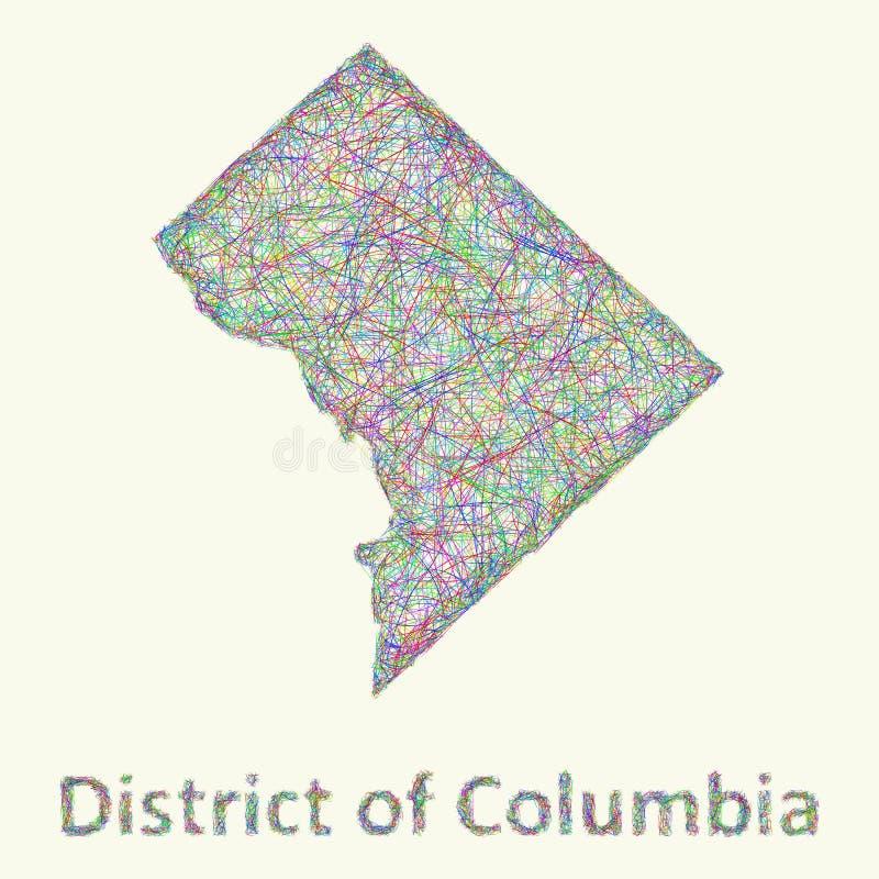 District de Columbia carte de schéma illustration de vecteur