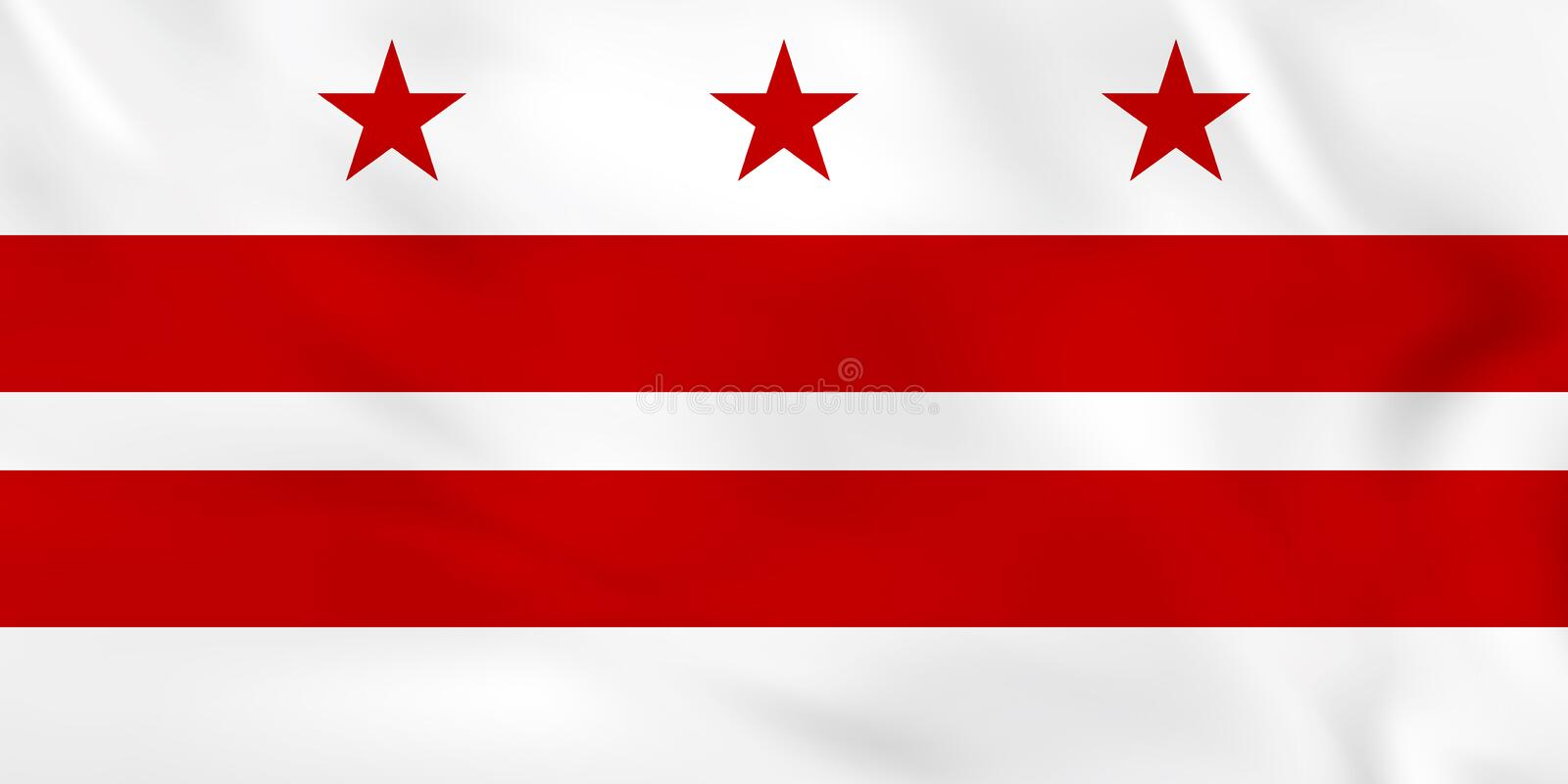 District de Columbia le drapeau de ondulation District de Columbia la texture de fond de drapeau d'état illustration libre de droits