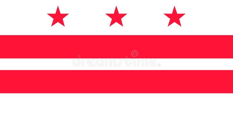 District de Columbia le drapeau de vecteur Illustration de vecteur Les Etats-Unis d'Am?rique illustration de vecteur