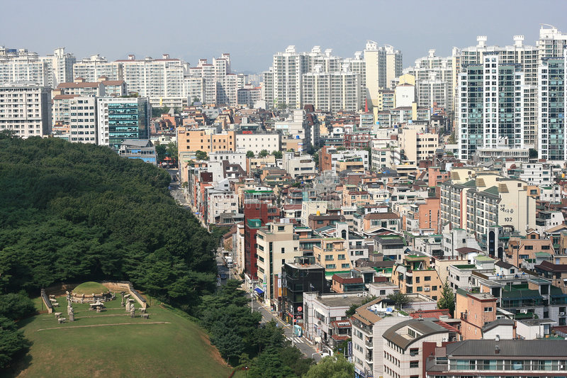District de Gangnam en Corée photos libres de droits