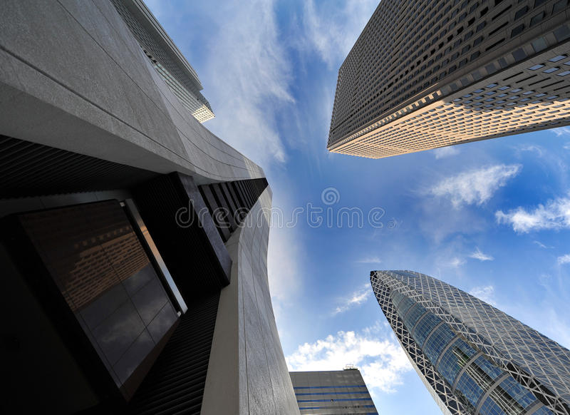 District de gratte-ciel de Shinjuku Tokyo image libre de droits