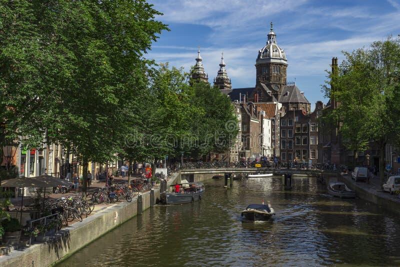 District de lumière rouge d'Amsterdam images stock