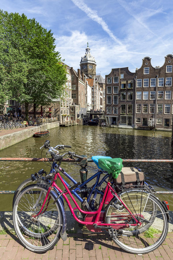 District de lumière rouge d'Amsterdam image libre de droits