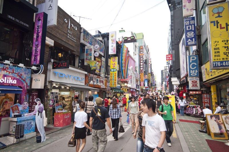District de Myeongdong à Séoul image stock