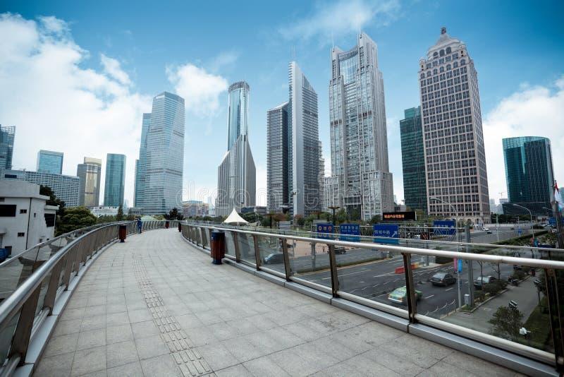 District de place financière de Changhaï photos libres de droits