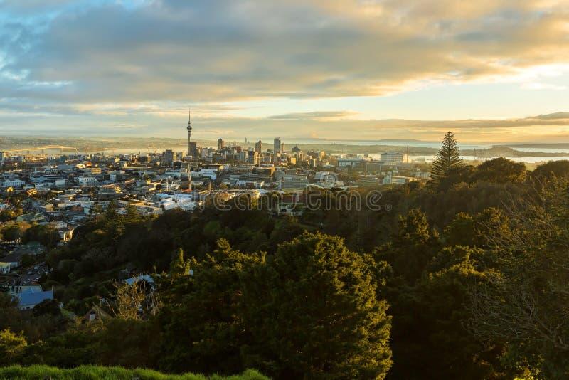 District des affaires central d'Auckland - CBD photographie stock libre de droits
