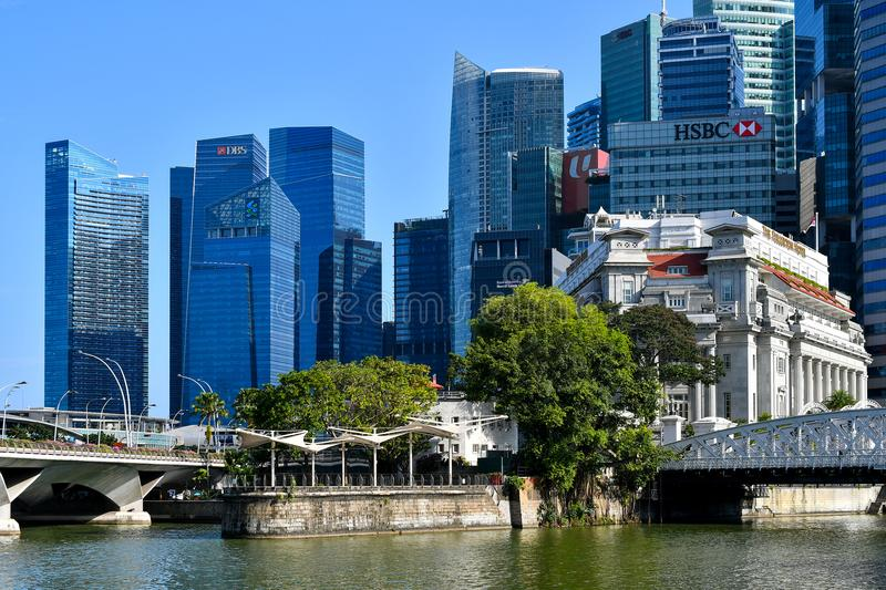 District des affaires de central de Singapour image stock