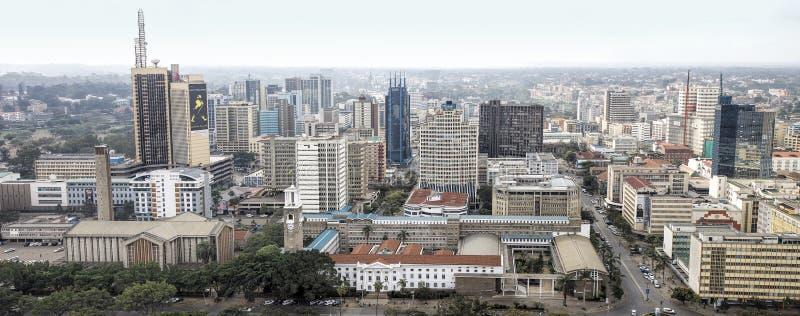 District des affaires et horizon centraux de Nairobi photo stock