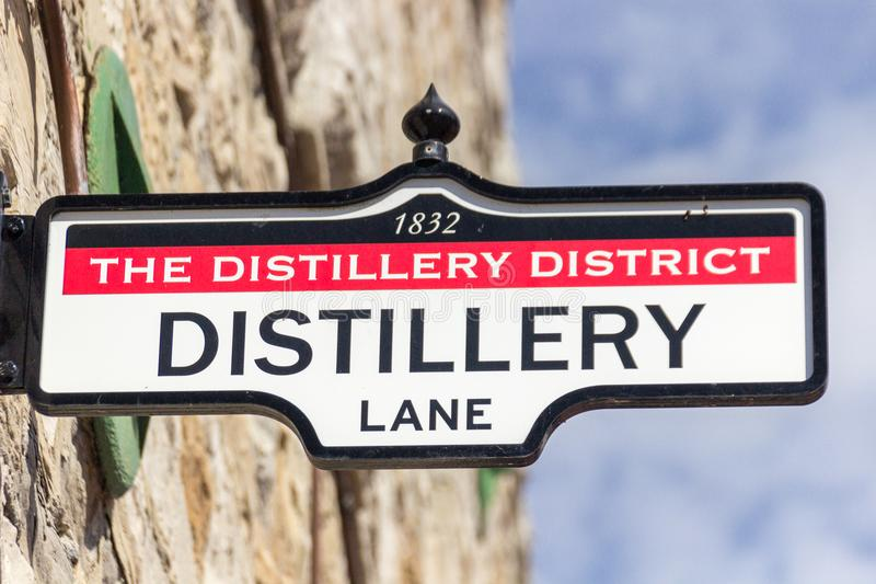 District Distillery in Toronto Canada royalty free stock image