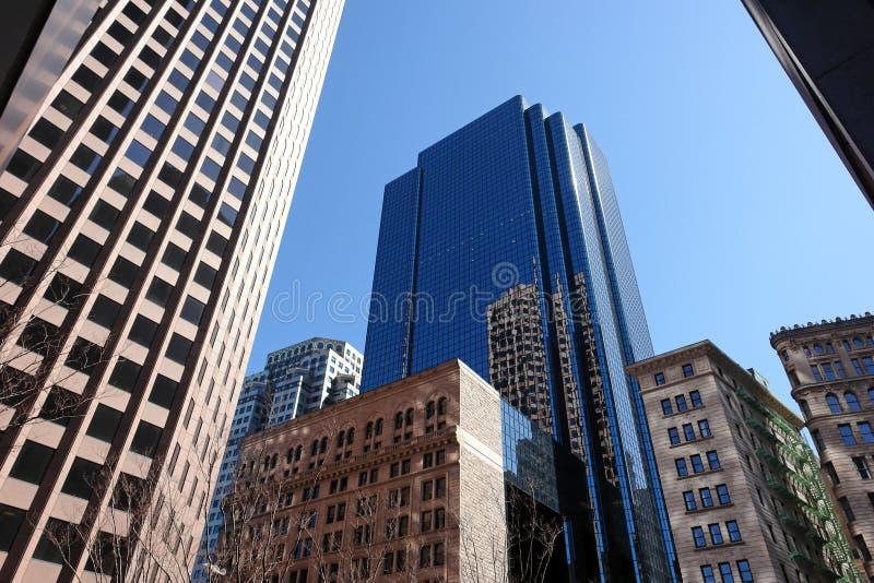 District Financier Boston Image libre de droits
