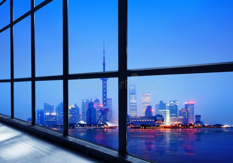 District financier de la Chine Changhaï Lujiazui image libre de droits