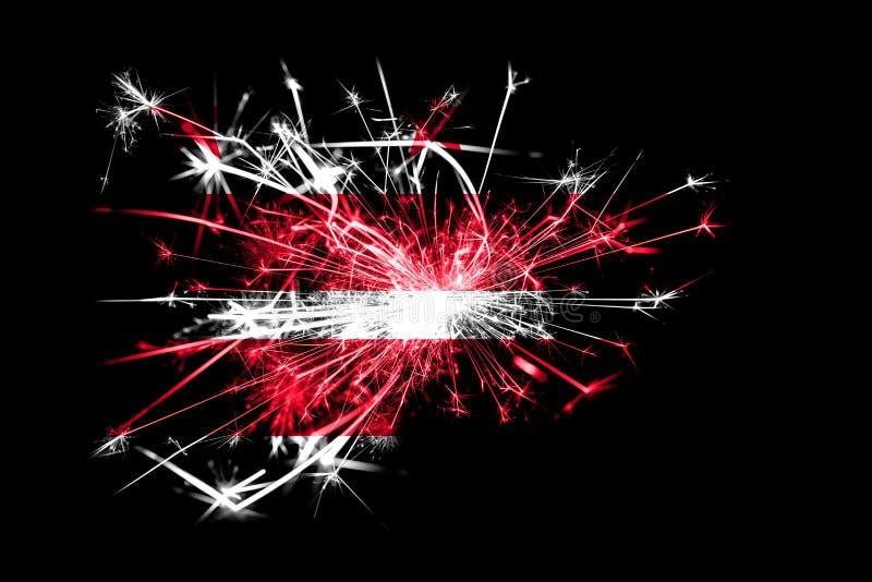District het vuurwerk fonkelende vlag van van Colombia, Washington Nieuwjaar 2019 en het concept van de Kerstmispartij royalty-vrije illustratie