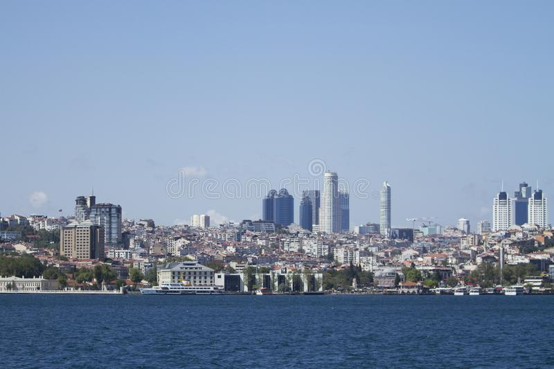 The district of Istanbul full of skyscrapers Maslak royalty free stock photography