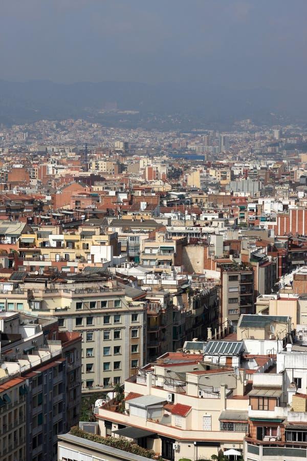 District résidentiel à Barcelone photos libres de droits