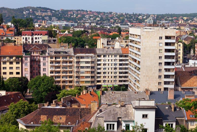 District résidentiel de Budapest images libres de droits