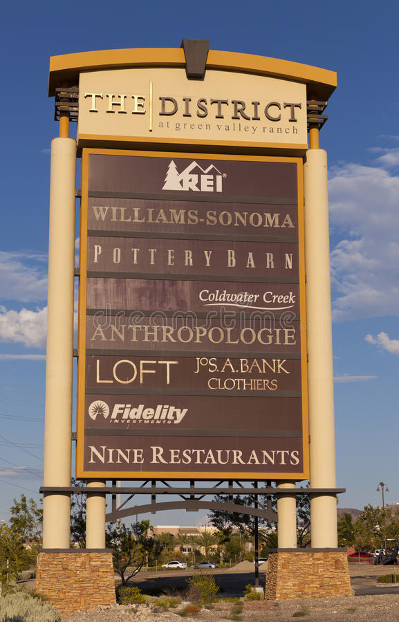 Download The District Sign At Green Valley Ranch In Las Vegas, NV On Augu Editorial Photography - Image: 33096192