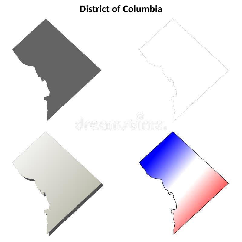 District van de reeks van de het overzichtskaart van Colombia royalty-vrije illustratie