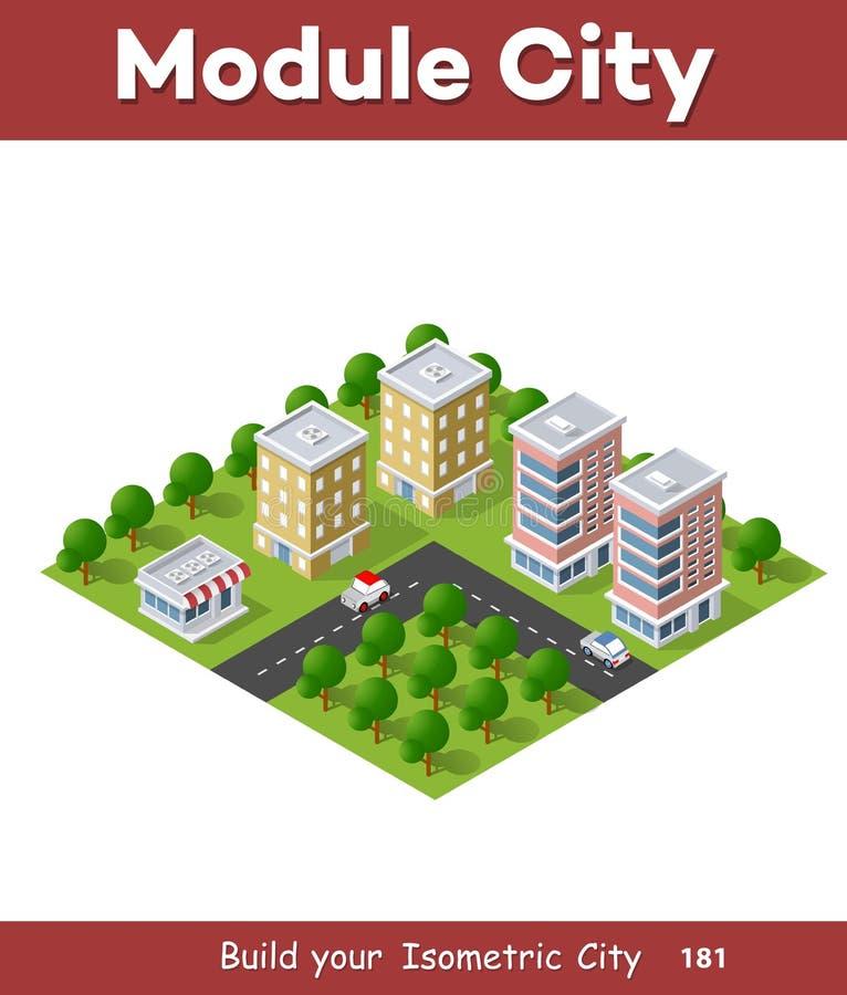 District van de stad stock illustratie