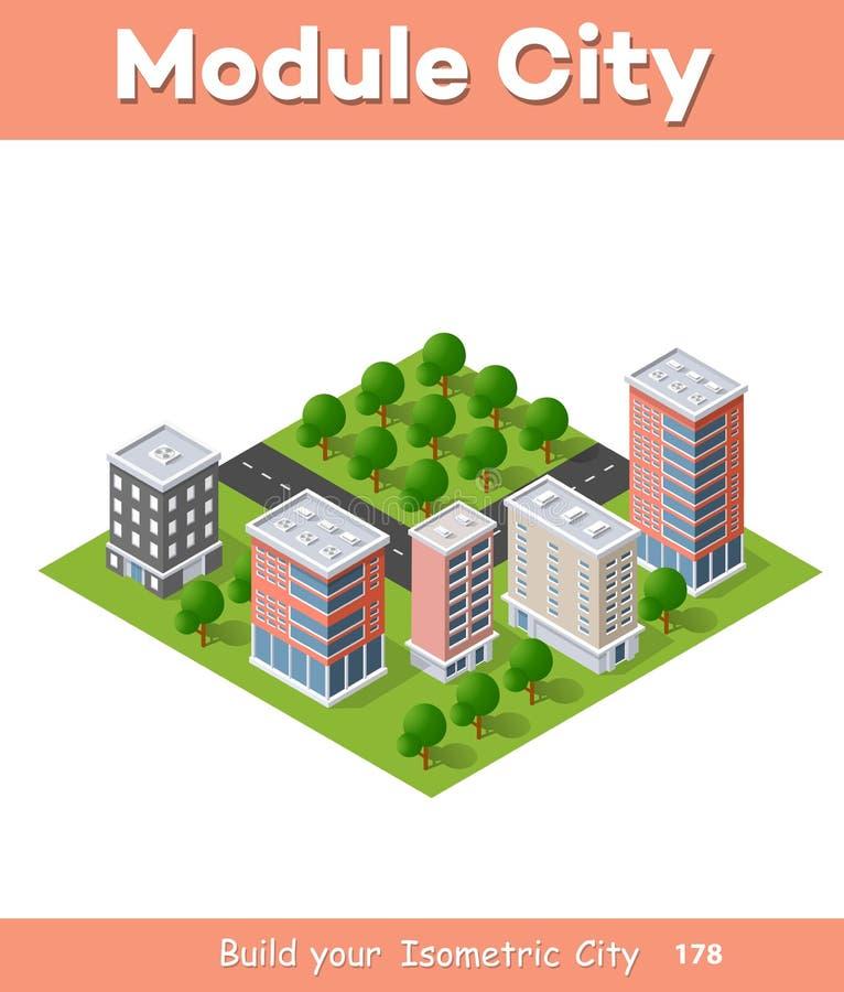District van de stad vector illustratie