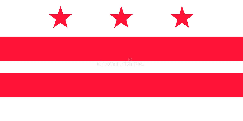 District van de vectorvlag van Colombia Vector illustratie De Verenigde Staten van Amerika vector illustratie