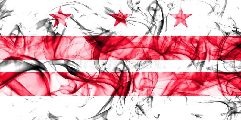 District van de vlag van de de stadsrook van Colombia, Washington, Maryland en Virginia State, de Verenigde Staten van Amerika royalty-vrije illustratie