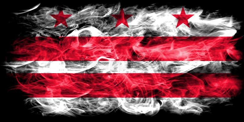 District van de vlag van de de stadsrook van Colombia, Washington, Maryland en Virginia State, de Verenigde Staten van Amerika stock illustratie