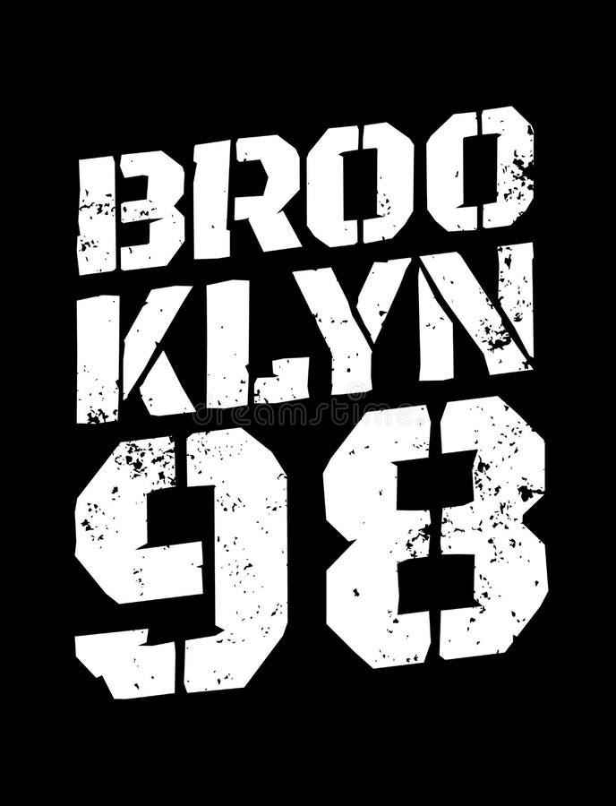 District van New York brooklyn stock illustratie