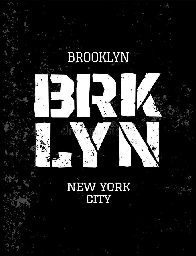 District van New York brooklyn vector illustratie