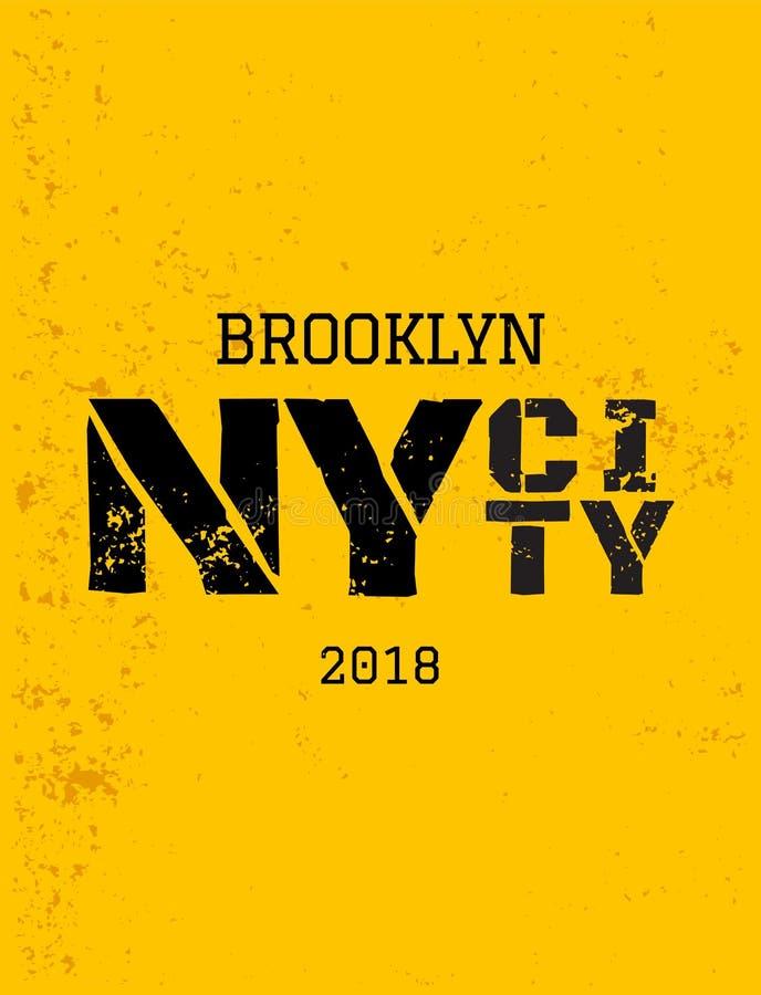 District van New York brooklyn royalty-vrije illustratie