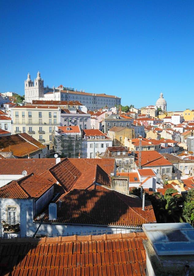 Districto de Alfama de Lisboa fotografía de archivo libre de regalías