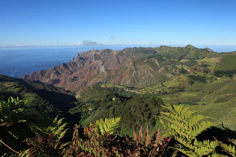 Districto de la bahía de Sandy en la isla alejada de St. Helena imágenes de archivo libres de regalías