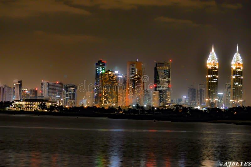 Districto de la parte alta de Dubai imagenes de archivo