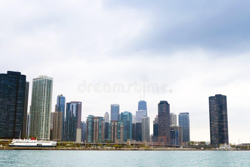 Districto de las finanzas en Chicago imagen de archivo libre de regalías