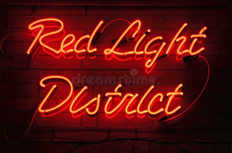 Districto de luz roja foto de archivo