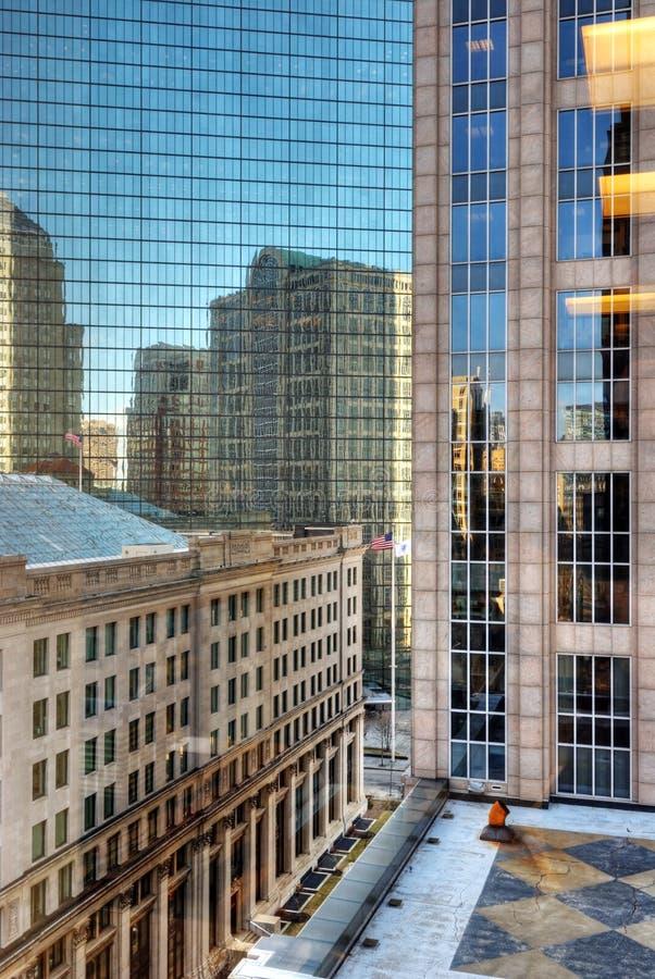 Districto de oficina en la bahía posterior Boston foto de archivo libre de regalías
