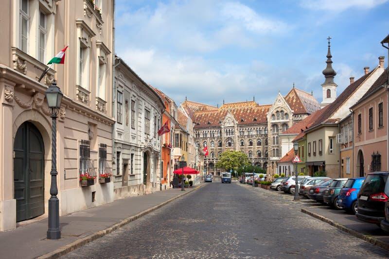 Districto del castillo en Budapest imágenes de archivo libres de regalías