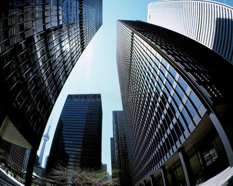 Districto financiero de Toronto fotografía de archivo libre de regalías