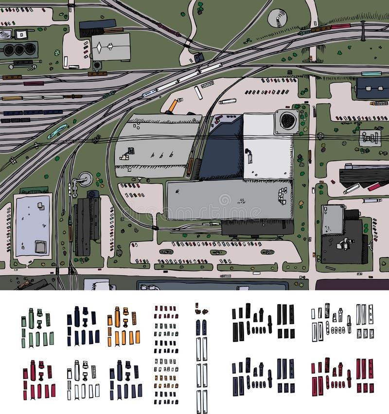 Districto industrial ilustración del vector