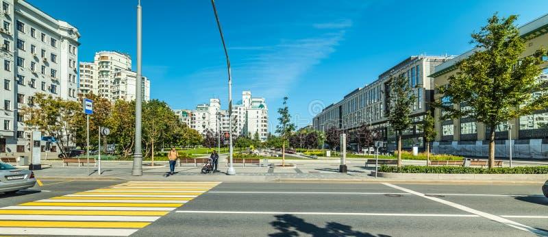 Distrito Administrativo Central de Tverskoy. Ciudad de Moscú fotos de archivo libres de regalías