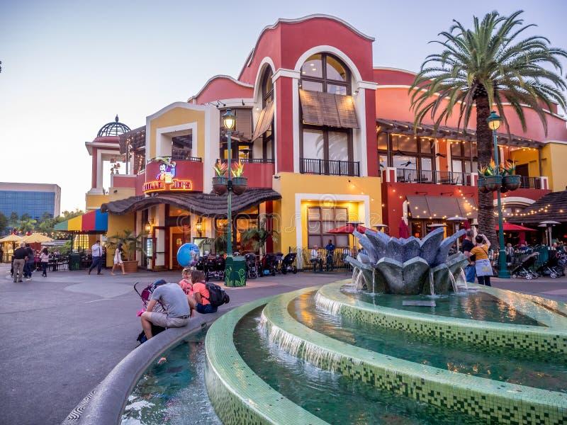 Distrito céntrico de las compras y del entretenimiento de Disney fotos de archivo libres de regalías