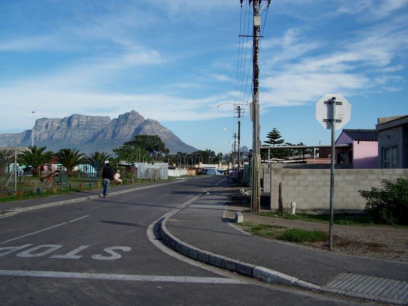 Distrito com uma vista imagens de stock