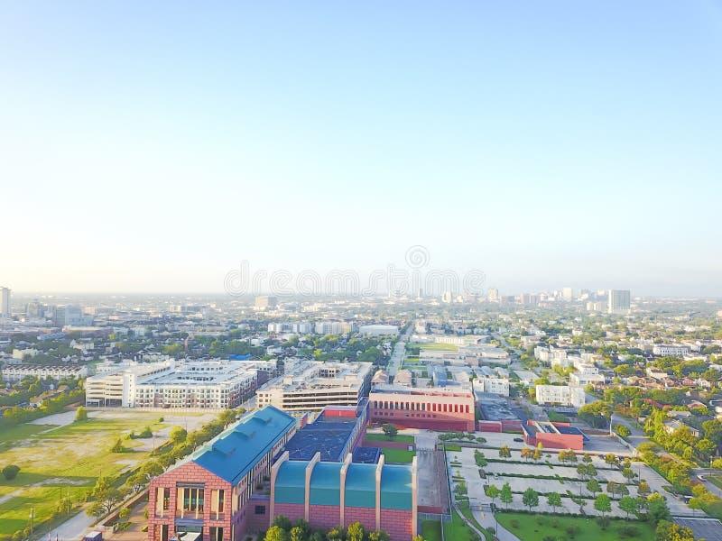 Distrito da divisão da vista aérea quarto a oeste de Houston do centro, Texas imagem de stock royalty free