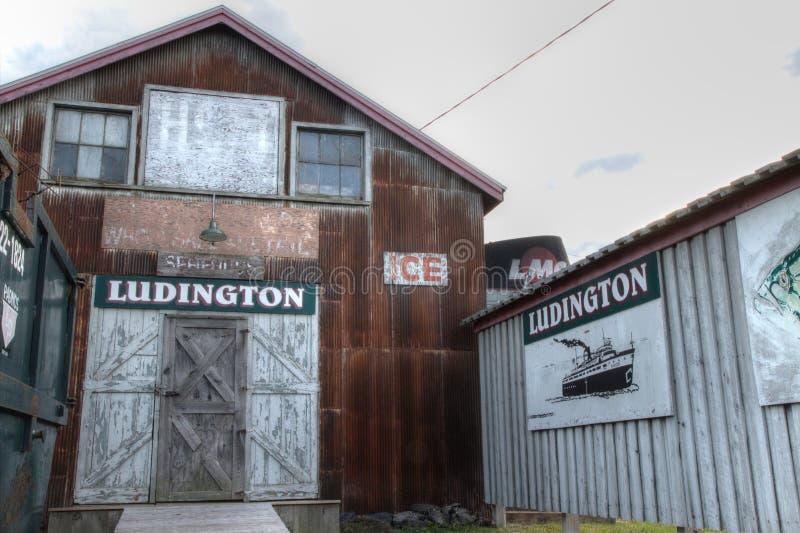 Distrito da margem de Ludington Michigan imagem de stock