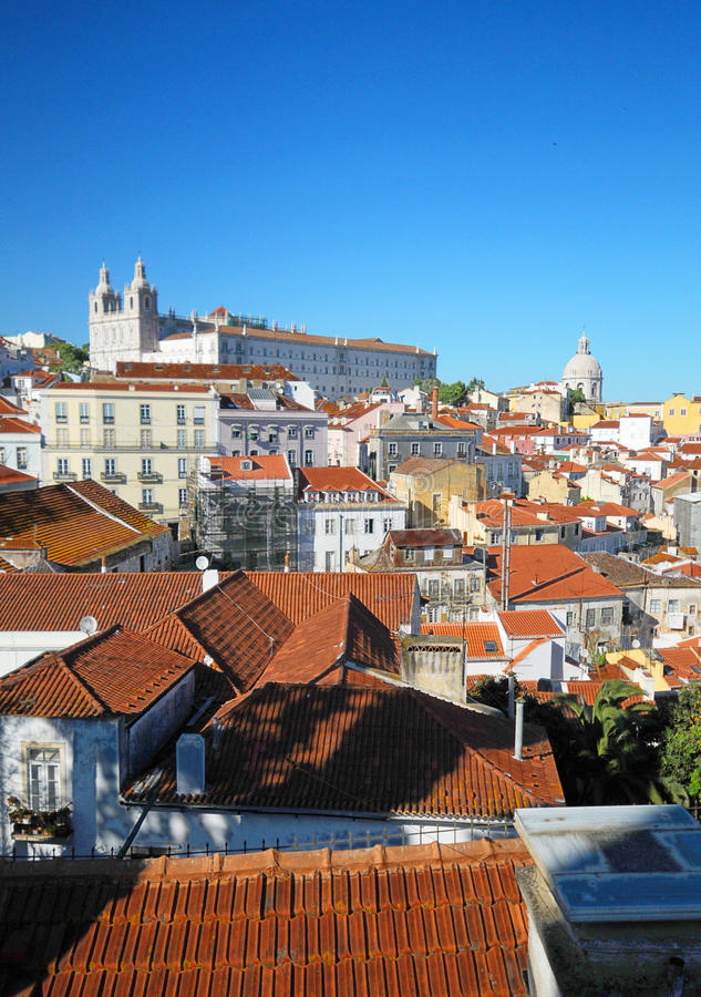 Distrito de Alfama de Lisboa fotografia de stock royalty free