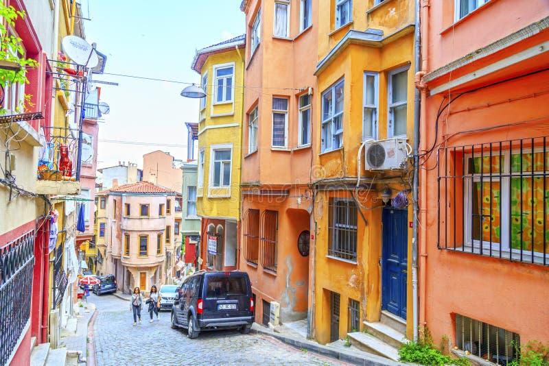 Distrito de Balat, Istambul, Turquia fotos de stock