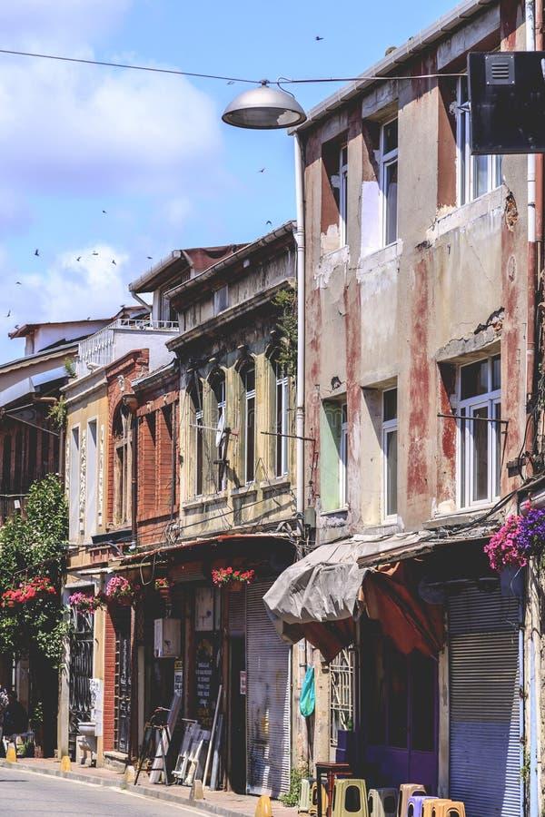 Distrito de Balat, Istambul, Turquia fotografia de stock