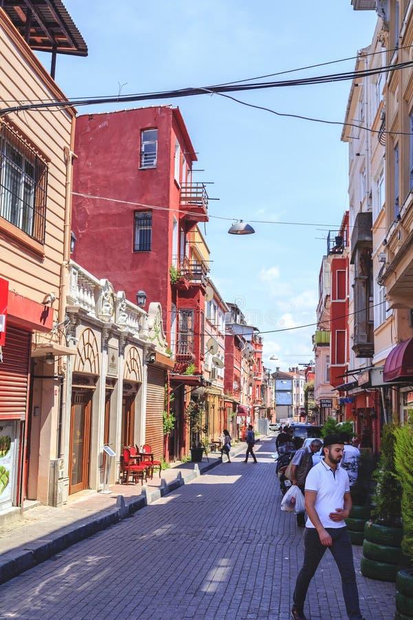 Distrito de Balat, Istambul, Turquia imagens de stock