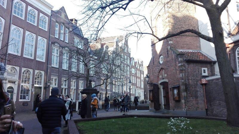 Distrito de Beghine de Amsterdam fotos de archivo libres de regalías