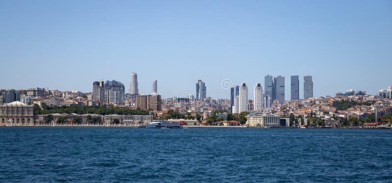 Distrito de Besiktas na cidade de Istambul, Turquia fotografia de stock royalty free