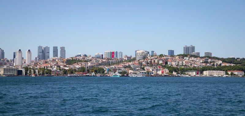 Distrito de Besiktas na cidade de Istambul, Turquia imagem de stock